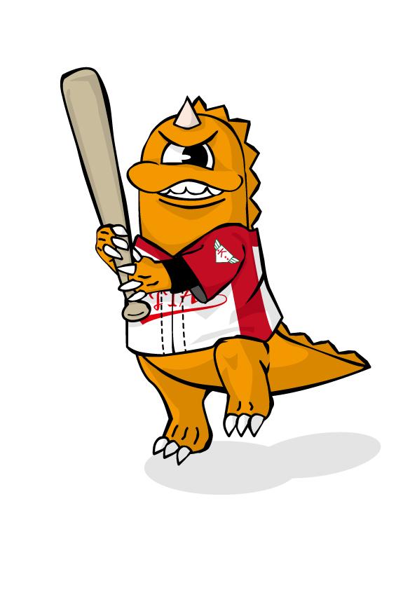 キャプチャ写真:野球キャラクター